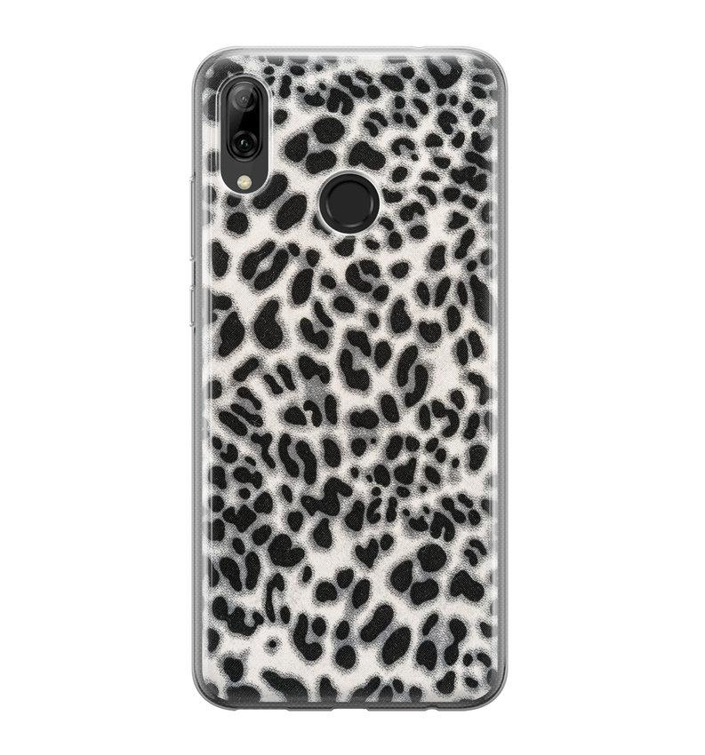Huawei P Smart 2019 siliconen hoesje - Luipaard grijs