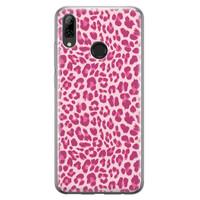 Leuke Telefoonhoesjes Huawei P Smart 2019 siliconen hoesje - Luipaard roze