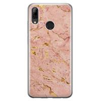 Huawei P Smart 2019 siliconen hoesje - Marmer roze goud