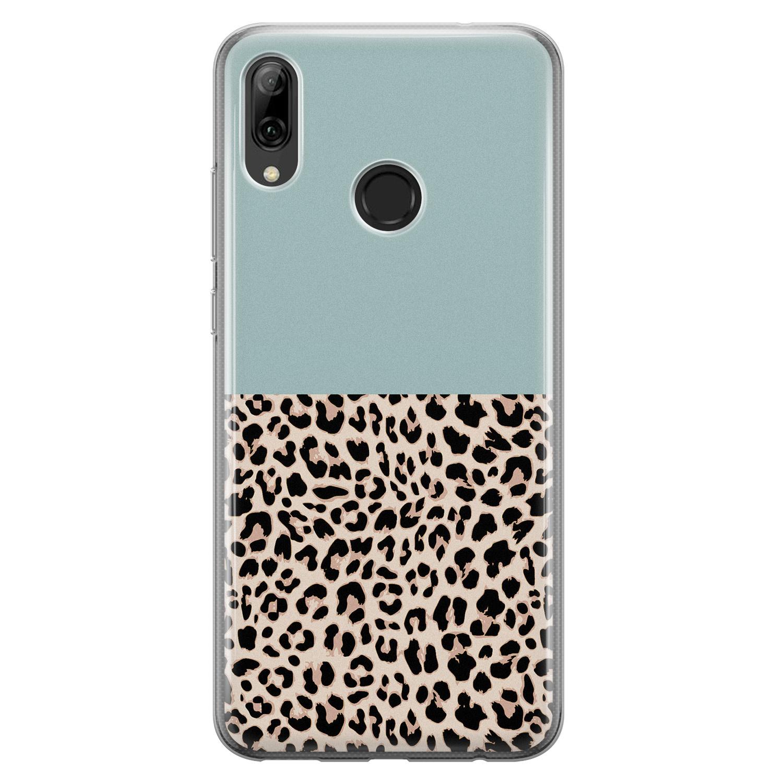 Huawei P Smart 2019 siliconen hoesje - Luipaard mint