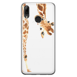 Leuke Telefoonhoesjes Huawei P Smart 2019 siliconen hoesje - Giraffe peekaboo