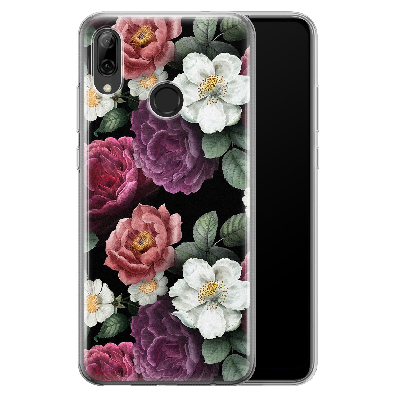 Huawei P Smart 2019 siliconen hoesje - Bloemenliefde