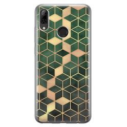 Leuke Telefoonhoesjes Huawei P Smart 2019 siliconen hoesje - Green cubes