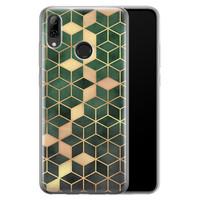 Huawei P Smart 2019 siliconen hoesje - Green cubes