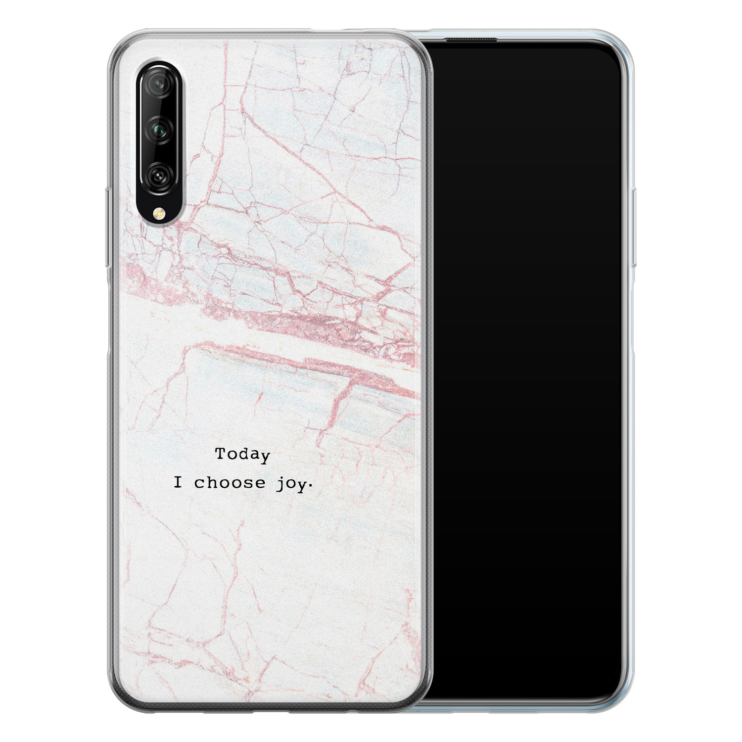 Huawei P Smart Pro siliconen hoesje - Today I choose joy