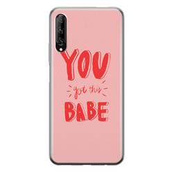 Huawei P Smart Pro siliconen hoesje - You got this babe!