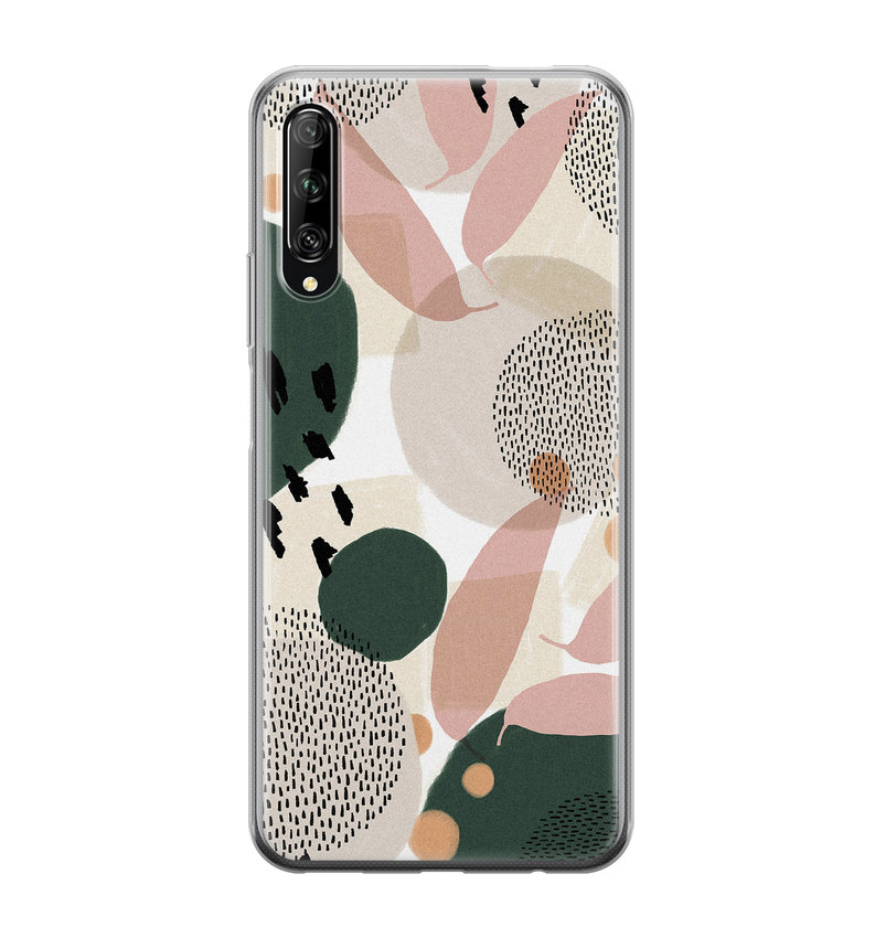 Huawei P Smart Pro siliconen hoesje - Abstract print