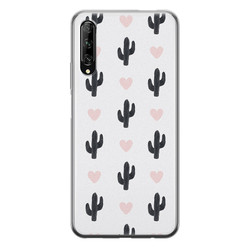 Huawei P Smart Pro siliconen hoesje - Cactus love