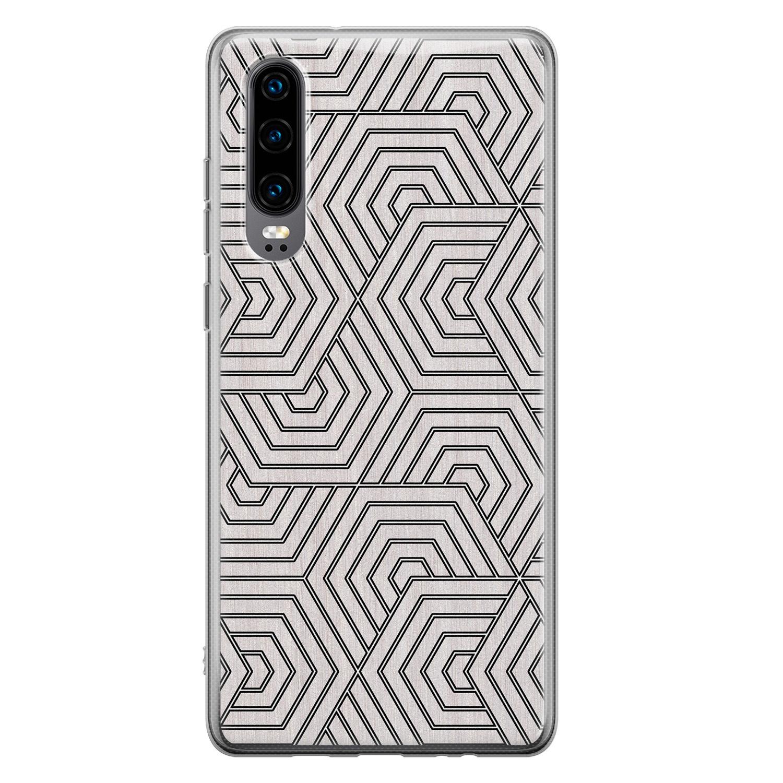 Huawei P30 siliconen hoesje - Geometrisch