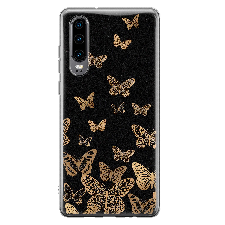 Huawei P30 siliconen hoesje - Vlinders