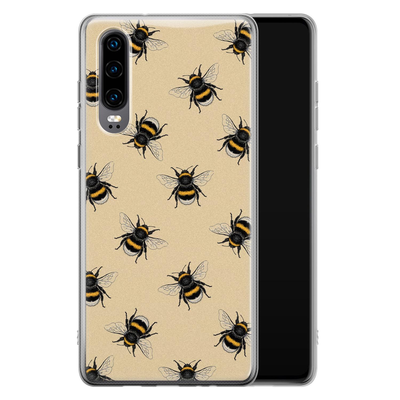 Huawei P30 siliconen hoesje - Bee happy