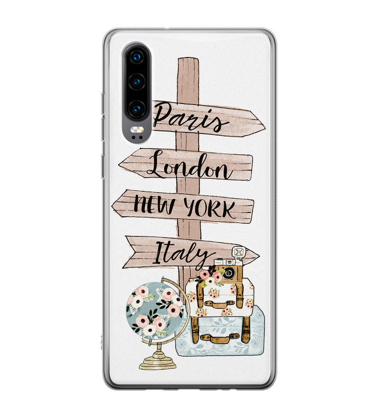 Huawei P30 siliconen hoesje - Where to go next