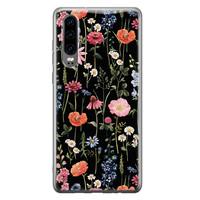 Huawei P30 siliconen hoesje - Dark flowers
