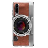 Huawei P30 siliconen hoesje - Vintage camera