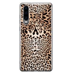 Leuke Telefoonhoesjes Huawei P30 siliconen hoesje - Wild animal