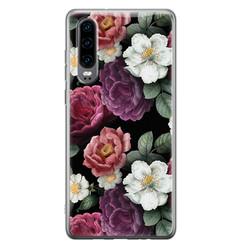 Leuke Telefoonhoesjes Huawei P30 siliconen hoesje - Bloemenliefde