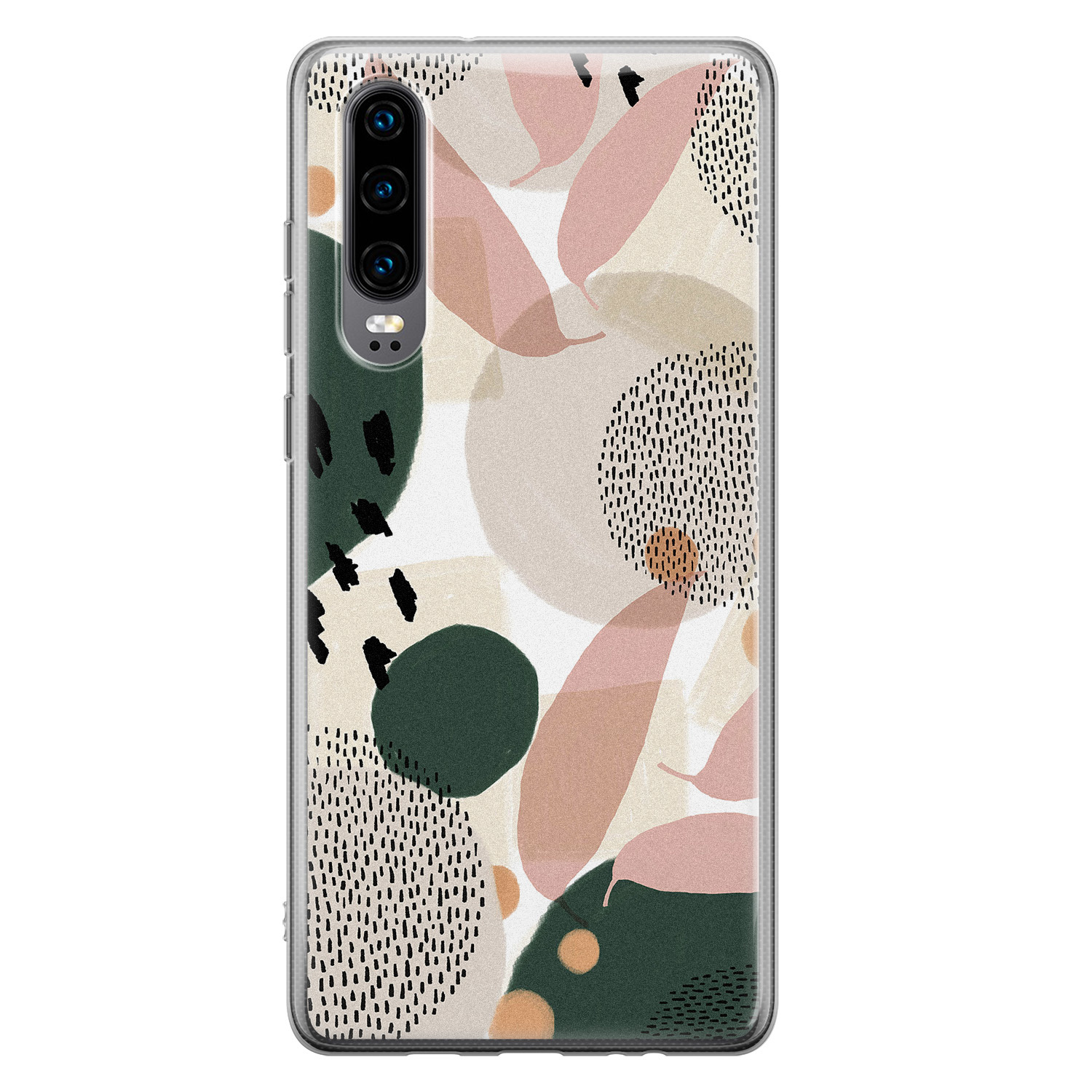Huawei P30 siliconen hoesje - Abstract print