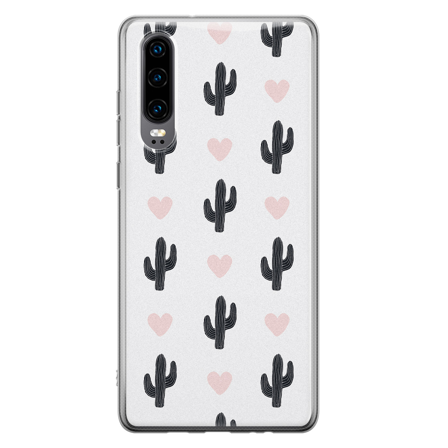 Huawei P30 siliconen hoesje - Cactus love