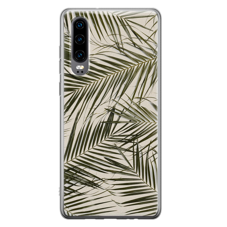Leuke Telefoonhoesjes Huawei P30 siliconen hoesje - Leave me alone