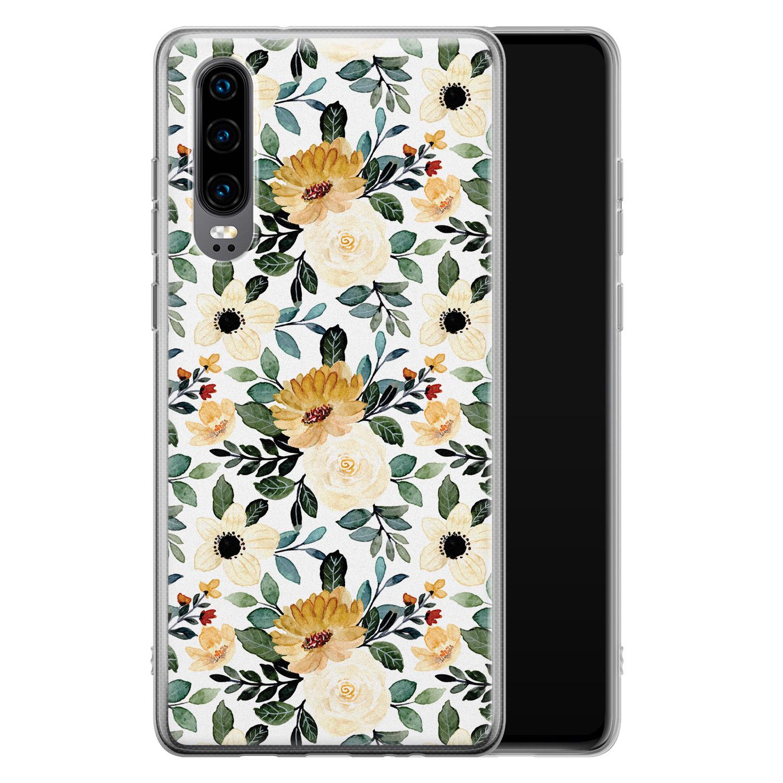 Huawei P30 siliconen hoesje - Lovely flower