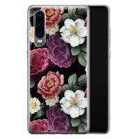 Huawei P30 siliconen hoesje - Bloemenliefde