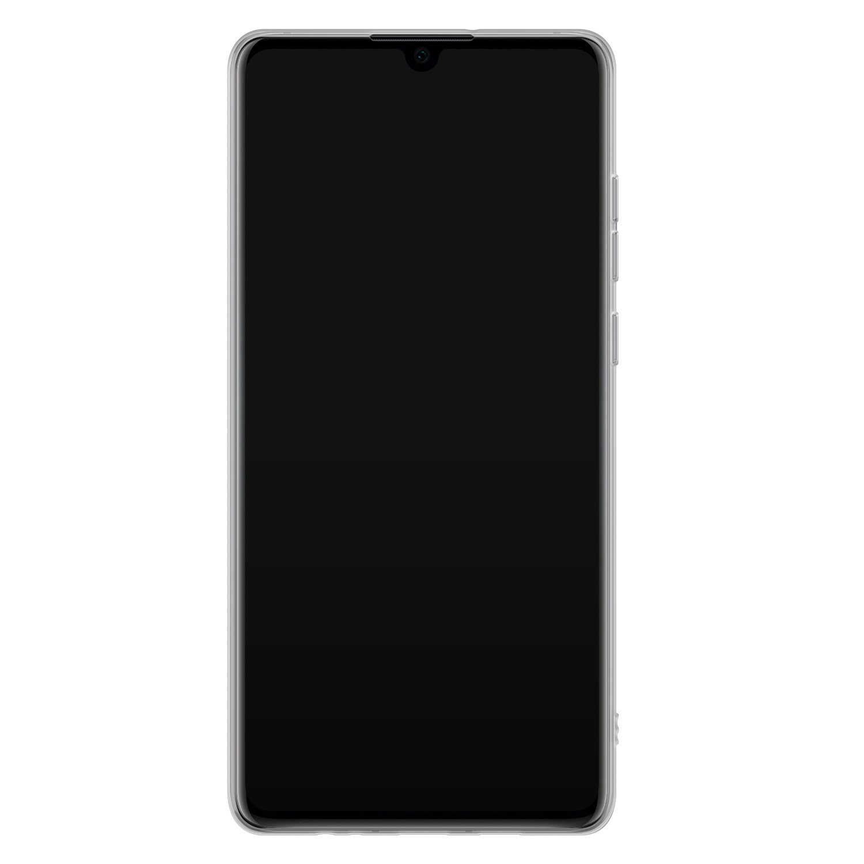 Huawei P30 siliconen hoesje - Marmer blauw