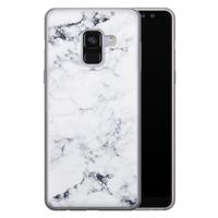 Samsung Galaxy A8 2018 siliconen hoesje - Marmer grijs