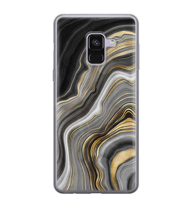 Samsung Galaxy A8 2018 siliconen hoesje - Golden agate
