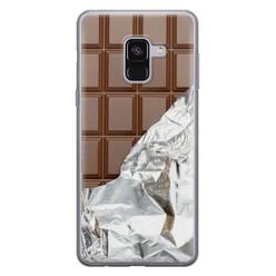 Leuke Telefoonhoesjes Samsung Galaxy A8 2018 siliconen hoesje - Chocoladereep