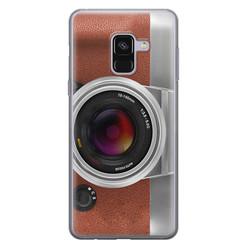 Samsung Galaxy A8 2018 siliconen hoesje - Vintage camera