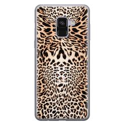 Leuke Telefoonhoesjes Samsung Galaxy A8 2018 siliconen hoesje - Wild animal