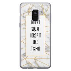 Leuke Telefoonhoesjes Samsung Galaxy A8 2018 siliconen hoesje - Dropping squats