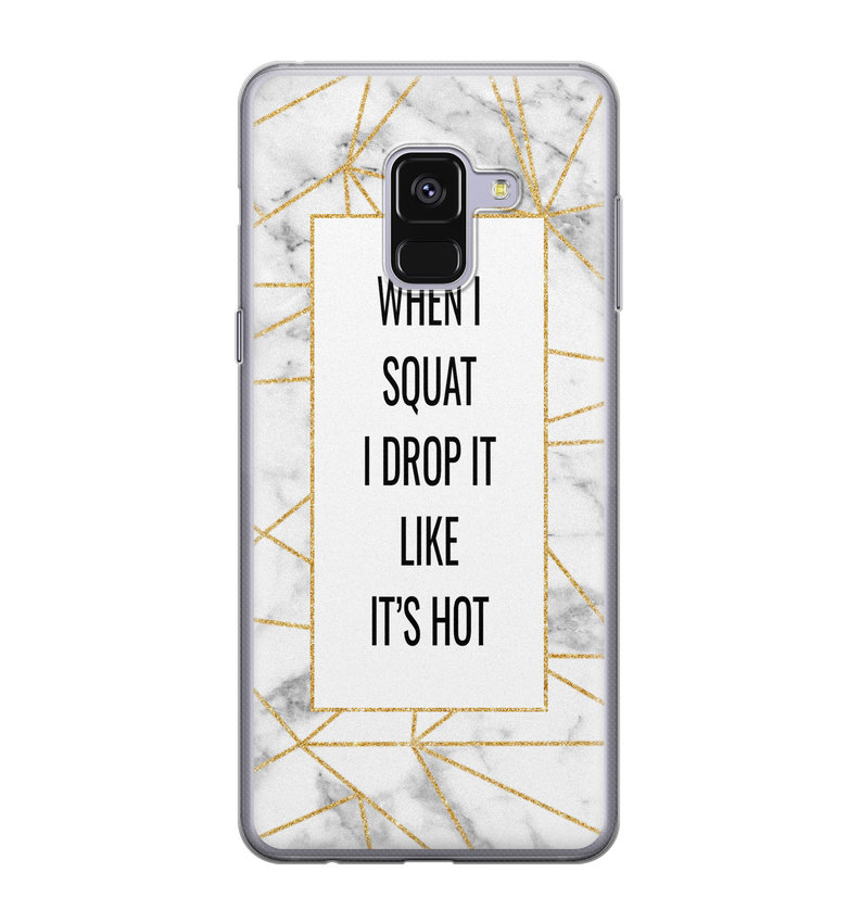 Samsung Galaxy A8 2018 siliconen hoesje - Dropping squats