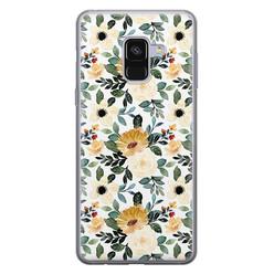 Leuke Telefoonhoesjes Samsung Galaxy A8 2018 siliconen hoesje - Lovely flower