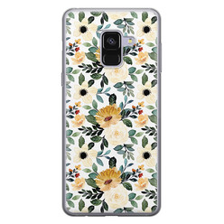 Samsung Galaxy A8 2018 siliconen hoesje - Lovely flower