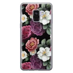 Leuke Telefoonhoesjes Samsung Galaxy A8 2018 siliconen hoesje - Bloemenliefde
