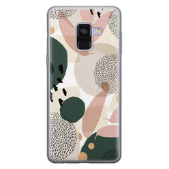 Samsung Galaxy A8 2018 siliconen hoesje - Abstract print
