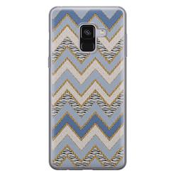 Samsung Galaxy A8 2018 siliconen hoesje - Retro zigzag