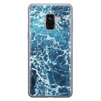 Samsung Galaxy A8 2018 siliconen hoesje - Ocean blue