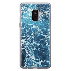 Leuke Telefoonhoesjes Samsung Galaxy A8 2018 siliconen hoesje - Ocean blue