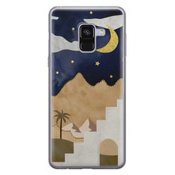 Samsung Galaxy A8 2018 siliconen hoesje - Desert night