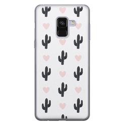 Samsung Galaxy A8 2018 siliconen hoesje - Cactus love