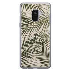 Leuke Telefoonhoesjes Samsung Galaxy A8 2018 siliconen hoesje - Leave me alone