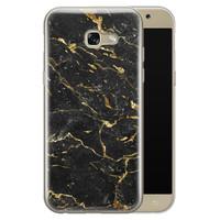 Samsung Galaxy A5 2017 siliconen hoesje - Marmer zwart goud