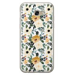 Leuke Telefoonhoesjes Samsung Galaxy A5 2017 siliconen hoesje - Lovely flower