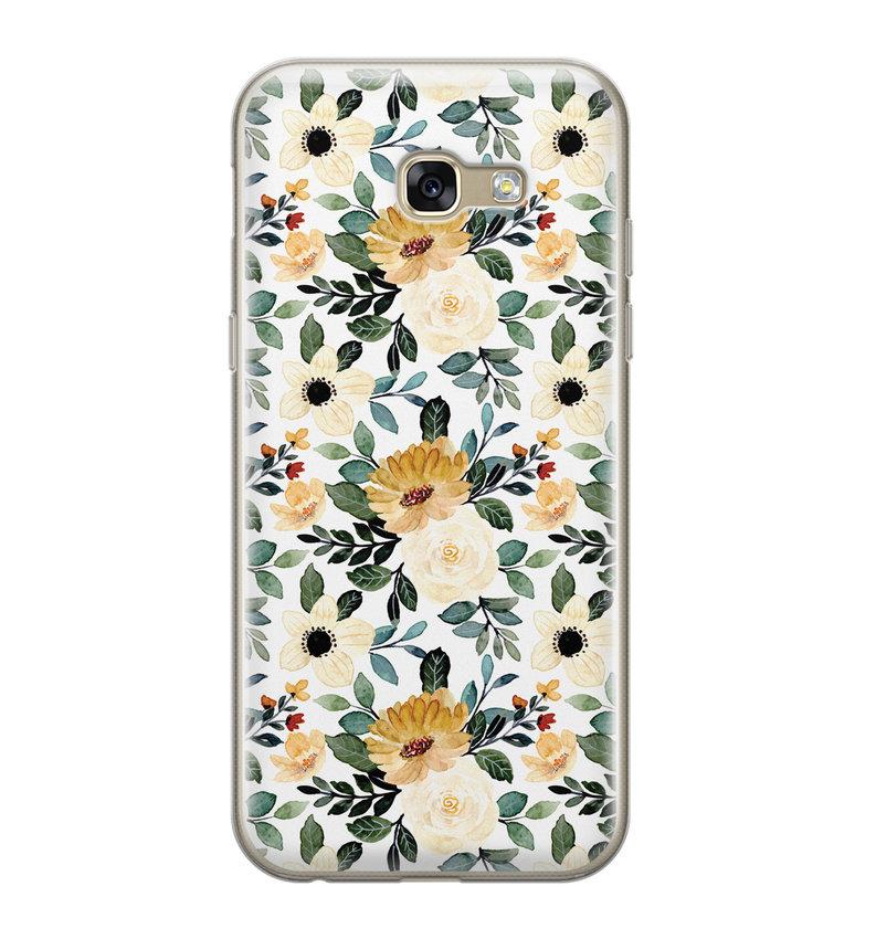 Samsung Galaxy A5 2017 siliconen hoesje - Lovely flower