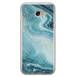 Leuke Telefoonhoesjes Samsung Galaxy A5 2017 siliconen hoesje - Marmer blauw