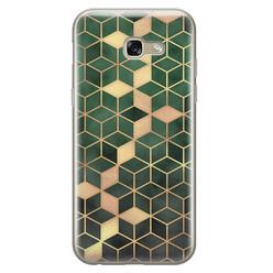 Leuke Telefoonhoesjes Samsung Galaxy A5 2017 siliconen hoesje - Green cubes