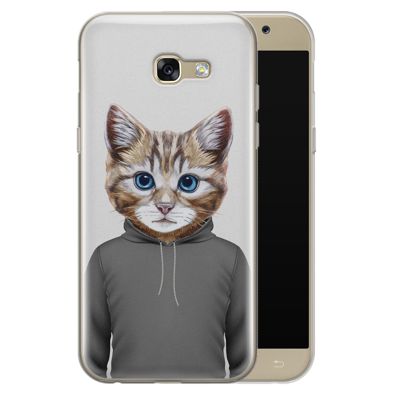 Samsung Galaxy A5 2017 siliconen hoesje - Poezenhoofd