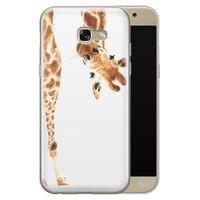 Samsung Galaxy A5 2017 siliconen hoesje - Giraffe peekaboo